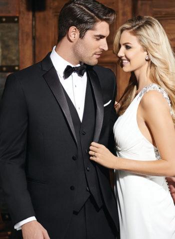 Indiana Black Wedding Tuxedo Suit Black Tie Prom