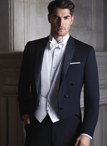 Indiana Black Wedding Tuxedo suit Tails Coat