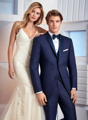 Indiana Dark Navy Blue Wedding Tuxedo Suit